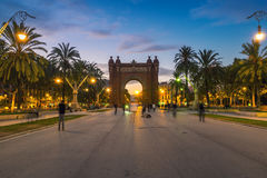 Arch of Triumph in Barcelona Royalty Free Stock Photos