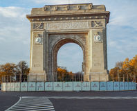 Arch of Triumph from Bucharest Royalty Free Stock Photos