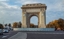 Arch of Triumph from Bucharest Royalty Free Stock Images