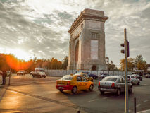 Arch of Triumph from Bucharest Royalty Free Stock Image