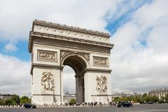 Arch of Triumph at the champs elysees avenue in Paris,. Paris, France - August 2011: Arch of Triumph at the champs elysees avenue in Paris, It is one of the stock photo