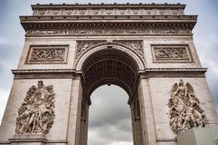 Arch of Triumph in Paris. Royalty Free Stock Photo