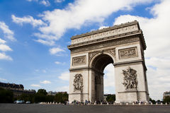 Arch of Triumph. Day time Royalty Free Stock Images