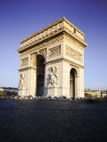 Arch of Triumph. Day time. Paric, France Royalty Free Stock Photos