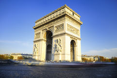 Arch of Triumph. Day time. Paris, France Royalty Free Stock Images