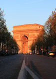 Arch of Triumph at Sunset Royalty Free Stock Photography