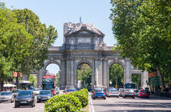 arch triumph gate alcala madrid spain stock photos, images