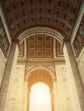 Arch of Triumph Inside View Royalty Free Stock Photos