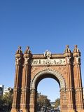 Arch of Triumph in Lluis Company Avenue, in Barcelona, Catalonia, Spain. The famous Arch of Triumph in Lluis Company Avenue, in Barcelona, Catalonia, Spain Stock Images