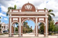 Arch of Triumph located in Jose Marti park, Cuba. Royalty Free Stock Image