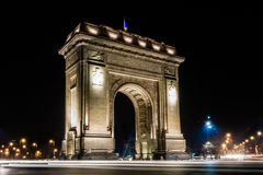 Arch of Triumph. Long exposure of the Arch of Triumph in Bucharest Royalty Free Stock Photos