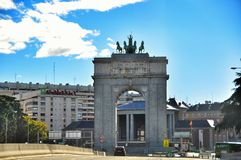 Arch of Triumph in Madrid Royalty Free Stock Photos