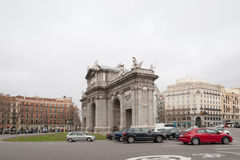 Arch of Triumph in Madrid Royalty Free Stock Photo