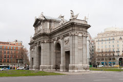 Arch of Triumph in Madrid Stock Image