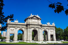 Arch of Triumph in Madrid, Spain Royalty Free Stock Image