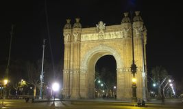 The Arch of Triumph by night, barcelona. Catalonia, Spain Stock Photo
