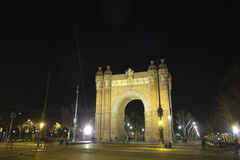 Arch of Triumph by night Stock Image