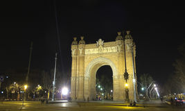 Arch of Triumph by night Royalty Free Stock Photography