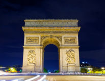 Arch of Triumph at night, Royalty Free Stock Photo
