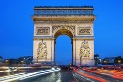Arch of Triumph at night Stock Photos