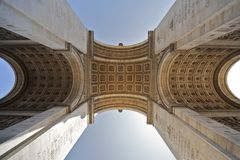 Arch of Triumph in Paris Royalty Free Stock Images