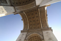 Arch of Triumph Paris. Photo from bottom of the Arch of Triumph Paris Royalty Free Stock Photo