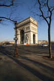Arch of Triumph Paris. Photo from bottom of the Arch of Triumph Paris Royalty Free Stock Image