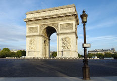 The Arch of Triumph in Paris Royalty Free Stock Photos