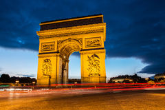 Arch of triumph, Paris Royalty Free Stock Photography