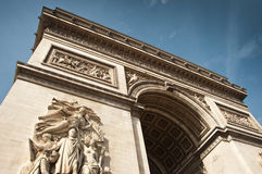 Arch of triumph in Paris Stock Images