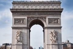 Arch of triumph in Paris Stock Photo