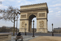 Arch of Triumph, Paris, France Royalty Free Stock Photos