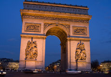 Arch of Triumph, Paris, France. Arc de Triumphe, Arch of Triumph, Paris, France Royalty Free Stock Photos