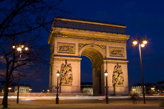 Arch of Triumph, Paris, France. Arc de Triumphe, Arch of Triumph, Paris, France Royalty Free Stock Images