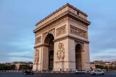 Arch of Triumph, Paris, France. The Arc de Triomphe de l'Étoile is one of the most famous monuments in Paris Stock Photo