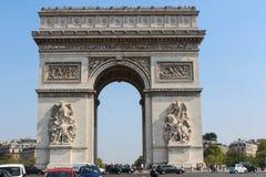 Arch of Triumph, Paris, France. The Arc de Triomphe de l'Étoile is one of the most famous monuments in Paris Royalty Free Stock Image