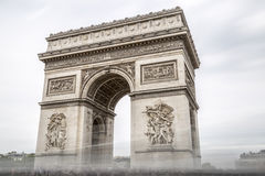 Arch of Triumph in Paris, France Royalty Free Stock Photo