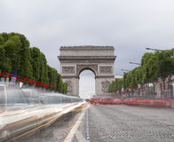 Arch of Triumph in Paris, France Royalty Free Stock Photos