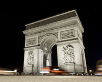 Arch of Triumph,  Paris, France. At night Stock Images