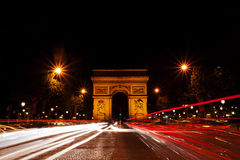 The Arch of Triumph in Paris, France Royalty Free Stock Images