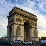 The arch of triumph in Paris,France Royalty Free Stock Photo