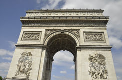 Arch of Triumph from Paris in France Royalty Free Stock Photography