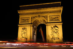 Arch of Triumph in Paris of French Royalty Free Stock Photos