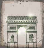 Arch of Triumph, Paris. Hand drawn vector Stock Photo