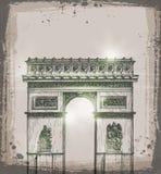 Arch of Triumph, Paris. Hand drawn vector Stock Photo