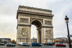 The arch of triumph. Paris. Royalty Free Stock Images