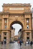 The Arch of Triumph at Piazza della Repubblica Royalty Free Stock Images