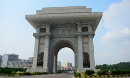 Arch of Triumph, Pyongyang, North-Korea Royalty Free Stock Images