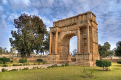 Arch of triumph in Sbeitla, Tunisia Stock Image