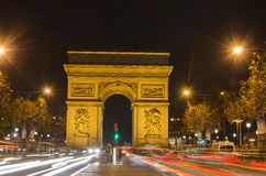 Arch of Triumph of the Star (Arc de Triomphe de l'Etoile) in Paris (France) Stock Photo